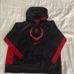 Boys Nike football hoodie size L